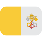 Flag: Vatican City on JoyPixels 1.0