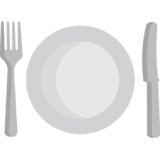 Fork and Knife With Plate on EmojiOne 1.0