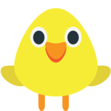 Front-Facing Baby Chick on JoyPixels 1.0