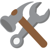 Hammer and Wrench on JoyPixels 1.0