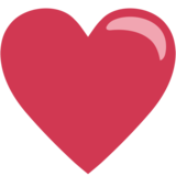 Red Heart on EmojiOne 1.0