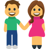 Woman and Man Holding Hands on JoyPixels 1.0