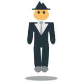 Person in Suit Levitating on JoyPixels 1.0