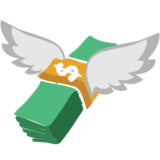Money with Wings on JoyPixels 1.0
