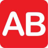 AB Button (Blood Type) on JoyPixels 1.0