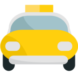 Oncoming Taxi on JoyPixels 1.0
