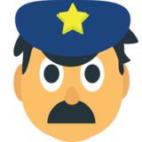Police Officer on JoyPixels 1.0