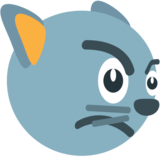 Pouting Cat Face on JoyPixels 1.0