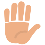 Raised Hand on EmojiOne 1.0