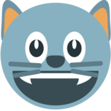 Grinning Cat Face on JoyPixels 1.0