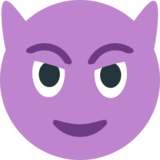 Smiling Face with Horns on JoyPixels 1.0