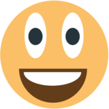 Grinning Face With Big Eyes on EmojiOne 1.0