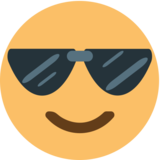 Smiling Face With Sunglasses on JoyPixels 1.0