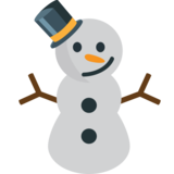 Snowman Without Snow on JoyPixels 1.0