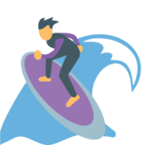 Person Surfing on JoyPixels 1.0