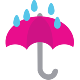 Umbrella with Rain Drops on JoyPixels 1.0