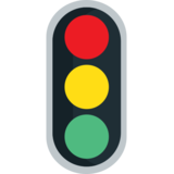 Vertical Traffic Light on JoyPixels 1.0