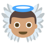 Baby Angel: Medium Skin Tone on JoyPixels 2.2