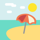 Beach With Umbrella on JoyPixels 2.2