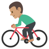 Person Biking: Medium Skin Tone on JoyPixels 2.2