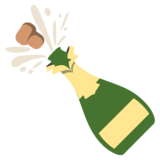 Bottle With Popping Cork on EmojiOne 2.2