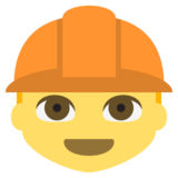 Construction Worker on JoyPixels 2.2