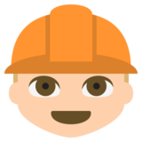 Construction Worker: Medium-Light Skin Tone on JoyPixels 2.2