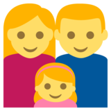 Family: Man, Woman, Girl on EmojiOne 2.2