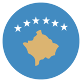 Flag: Kosovo on JoyPixels 2.2