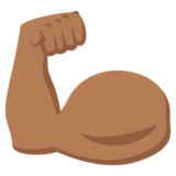 Flexed Biceps: Medium-Dark Skin Tone on JoyPixels 2.2