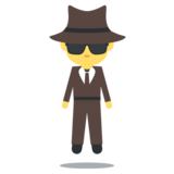 Man in Suit Levitating on EmojiOne 2.2