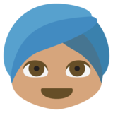 Person Wearing Turban: Medium Skin Tone on JoyPixels 2.2