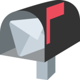 Open Mailbox With Raised Flag on JoyPixels 2.2