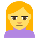 Person Frowning on JoyPixels 2.2