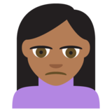 Person Frowning: Medium-Dark Skin Tone on JoyPixels 2.2