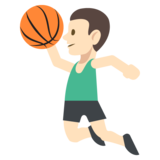 Person Bouncing Ball: Light Skin Tone on JoyPixels 2.2