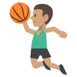 Person Bouncing Ball: Medium Skin Tone on JoyPixels 2.2