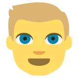 Person: Blond Hair on EmojiOne 2.2