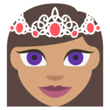 Princess: Medium Skin Tone on JoyPixels 2.2