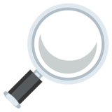 Magnifying Glass Tilted Right on JoyPixels 2.2
