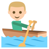 Person Rowing Boat: Medium-Light Skin Tone on JoyPixels 2.2