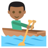 Person Rowing Boat: Medium-Dark Skin Tone on JoyPixels 2.2