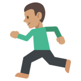 Person Running: Medium Skin Tone on JoyPixels 2.2