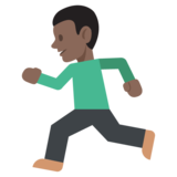 Person Running: Dark Skin Tone on JoyPixels 2.2
