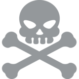 Skull and Crossbones on EmojiOne 2.2
