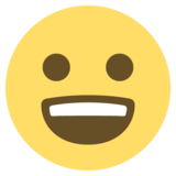 Grinning Face With Big Eyes on EmojiOne 2.2