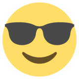 Smiling Face With Sunglasses on EmojiOne 2.2