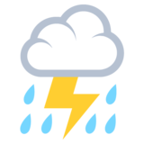 Cloud With Lightning and Rain on JoyPixels 2.2