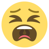 Tired Face on EmojiOne 2.2