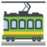 Tram Car on JoyPixels 2.2